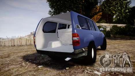 Toyota Land Cruiser для GTA 4 вид сзади слева