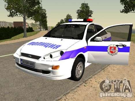 Ford Focus Полиция Нижегородской области для GTA San Andreas