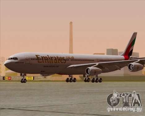 Airbus A340-313 Emirates для GTA San Andreas вид сзади слева