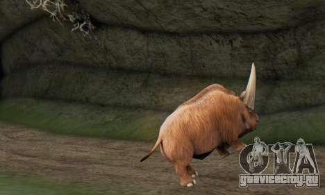Elasmotherium (Extinct Mammal) для GTA San Andreas четвёртый скриншот