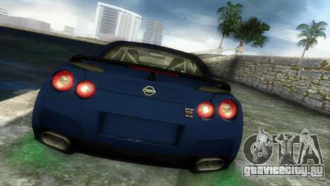 Nissan GT-R SpecV Black Revel для GTA Vice City вид сзади слева