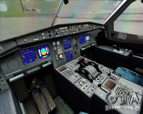 Airbus A340-642 Iberia Airlines для GTA San Andreas вид изнутри
