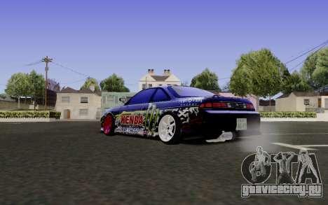 Nissan Silvia S14 Monster Energy для GTA San Andreas вид слева