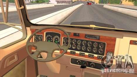 Kenworth T800 Road Train 8X6 для GTA San Andreas вид сзади
