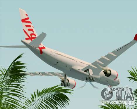 Airbus A330-200 Virgin Australia для GTA San Andreas вид сверху