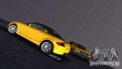 Audi TT Coupe BiMotor Black Revel для GTA Vice City вид сзади