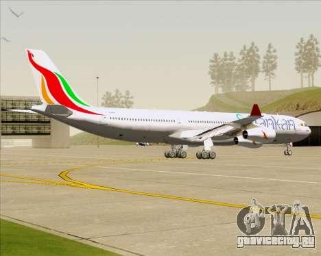 Airbus A340-313 SriLankan Airlines для GTA San Andreas вид сзади