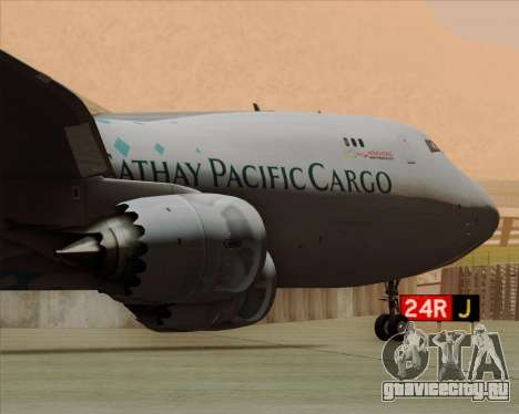 Boeing 747-8 Cargo Cathay Pacific Cargo для GTA San Andreas колёса
