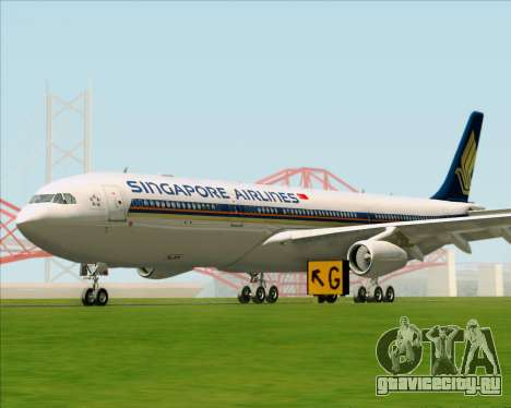 Airbus A340-313 Singapore Airlines для GTA San Andreas вид слева