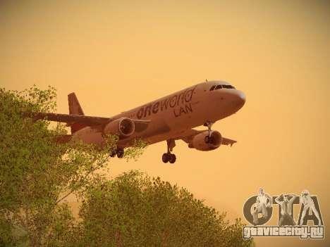 Airbus A320-214 LAN Oneworld для GTA San Andreas вид снизу