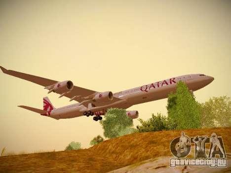 Airbus A340-600 Qatar Airways для GTA San Andreas вид слева