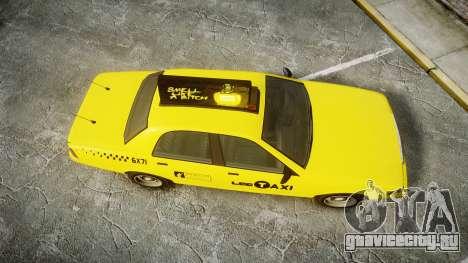 GTA V Vapid Taxi LCC для GTA 4 вид справа