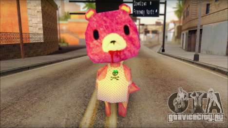 Gloomy the Foxy Bear Ped Skin для GTA San Andreas