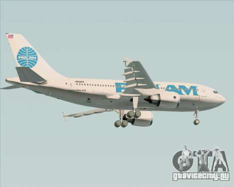 Airbus A310-324 Pan American World Airways для GTA San Andreas вид сзади