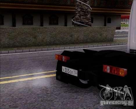 ГАЗель 3302 для GTA San Andreas вид сзади слева
