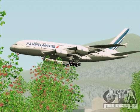 Airbus A380-861 Air France для GTA San Andreas вид снизу