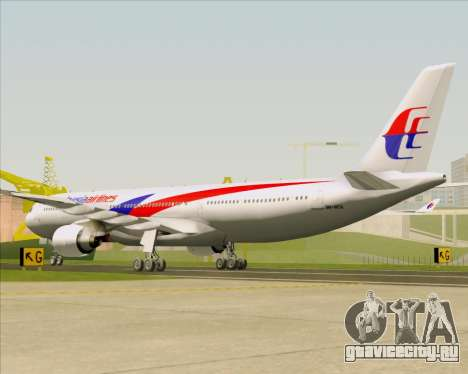 Airbus A330-323 Malaysia Airlines для GTA San Andreas вид справа