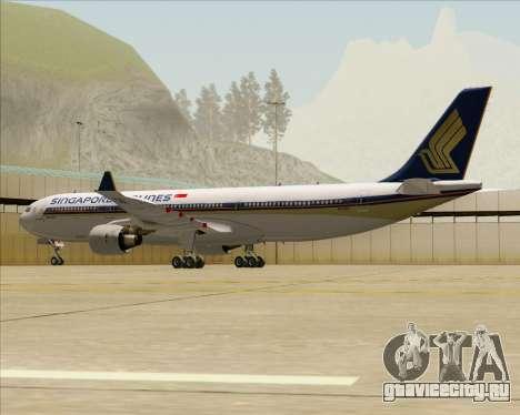 Airbus A330-300 Singapore Airlines для GTA San Andreas вид сзади