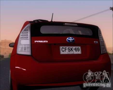 Toyota Prius для GTA San Andreas вид сверху