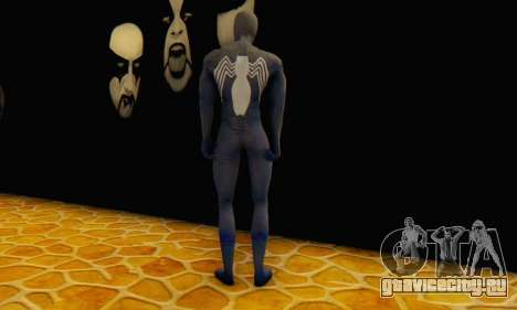 Skin The Amazing Spider Man 2 - DLC Black Suit для GTA San Andreas третий скриншот