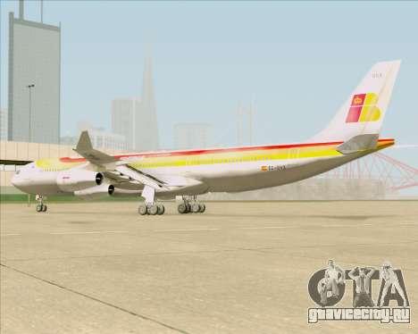 Airbus A340 -313 Iberia для GTA San Andreas вид сзади