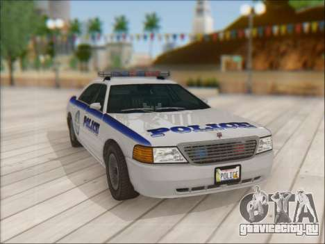 Admiral Police для GTA San Andreas вид сбоку