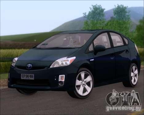 Toyota Prius для GTA San Andreas вид сзади слева