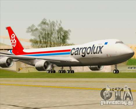 Boeing 747-8 Cargo Cargolux для GTA San Andreas вид слева