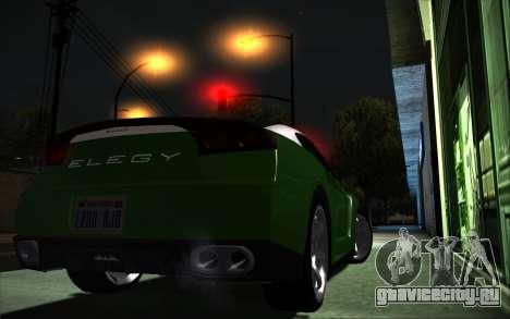 Elegy RH8 Tunable v1 для GTA San Andreas вид слева