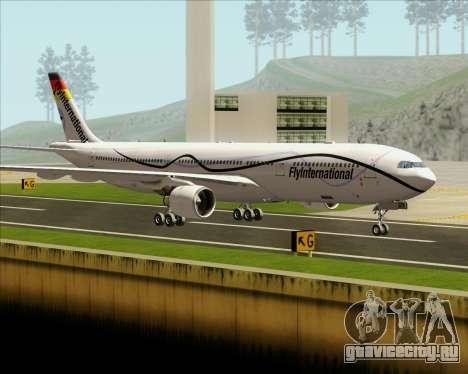 Airbus A330-300 Fly International для GTA San Andreas вид сбоку