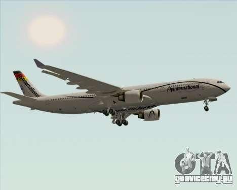 Airbus A330-300 Fly International для GTA San Andreas вид сзади
