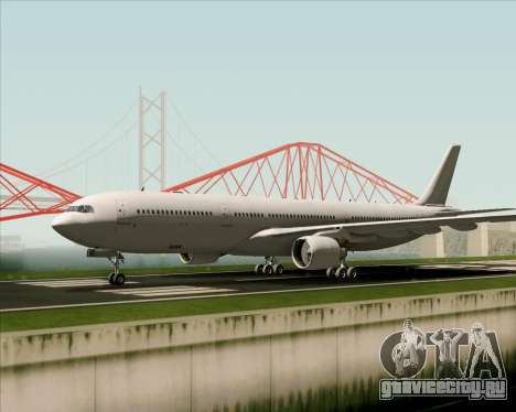 Airbus A330-300 Full White Livery для GTA San Andreas вид сзади
