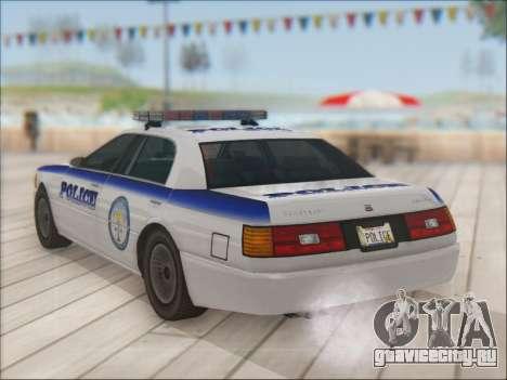 Admiral Police для GTA San Andreas вид снизу