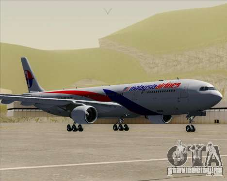 Airbus A330-323 Malaysia Airlines для GTA San Andreas вид сзади слева