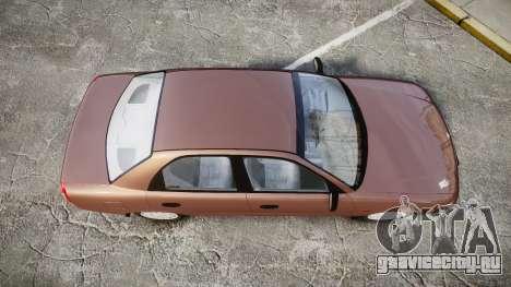 Daewoo Nubira I Sedan S PL 1997 для GTA 4 вид справа