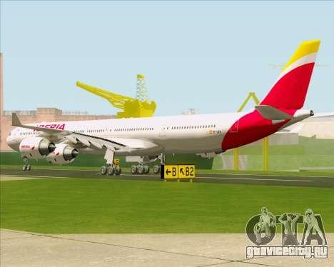 Airbus A340-642 Iberia Airlines для GTA San Andreas вид сзади слева