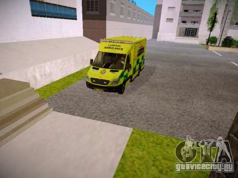 Mercedes-Benz Sprinter London Ambulance для GTA San Andreas вид сзади