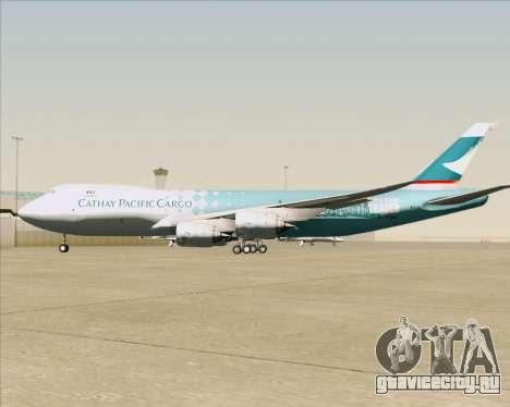 Boeing 747-8 Cargo Cathay Pacific Cargo для GTA San Andreas двигатель