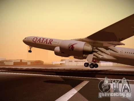 Airbus A340-600 Qatar Airways для GTA San Andreas вид сверху