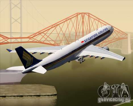Airbus A330-300 Singapore Airlines для GTA San Andreas