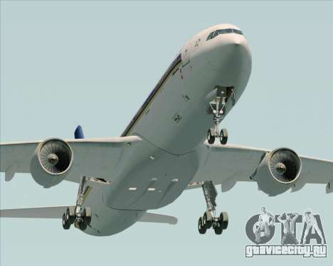 Airbus A330-300 Singapore Airlines для GTA San Andreas вид сбоку