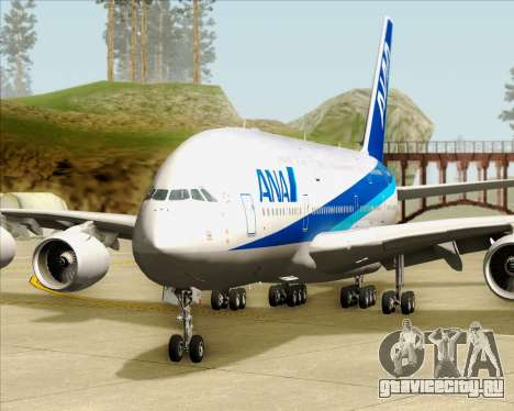 Airbus A380-800 All Nippon Airways (ANA) для GTA San Andreas вид снизу