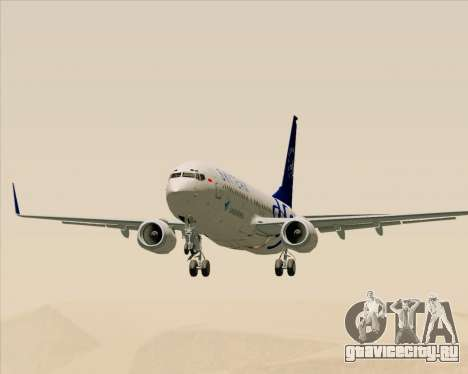 Boeing 737-86N Garuda Indonesia для GTA San Andreas вид изнутри