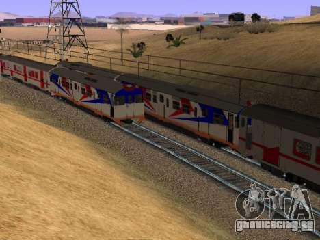 Индонезийский дизель-поезд MCW 302 для GTA San Andreas вид сзади