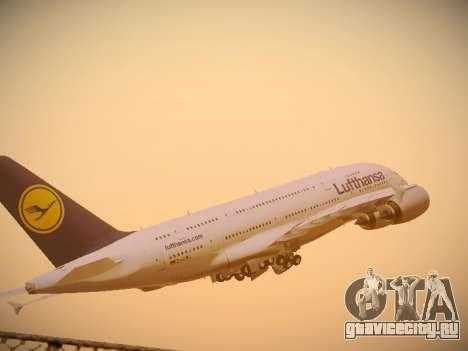 Airbus A380-800 Lufthansa для GTA San Andreas вид изнутри
