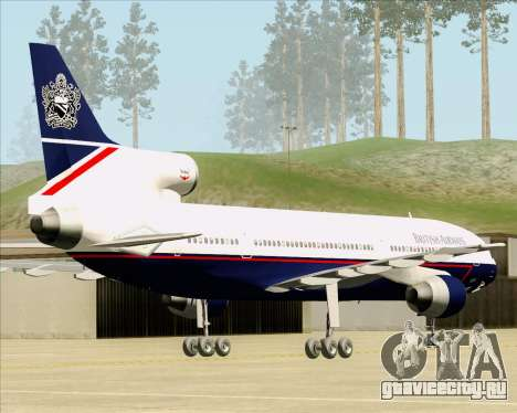 Lockheed L-1011 TriStar British Airways для GTA San Andreas вид сзади слева