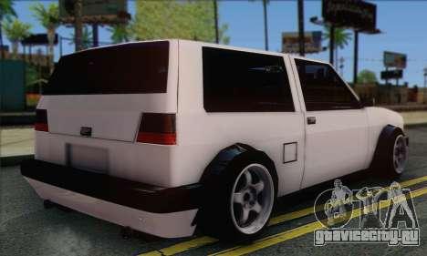 Volkswagen Club Mk2 для GTA San Andreas вид слева