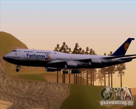 Boeing 747-830 Lufthansa - Fanhansa для GTA San Andreas вид справа