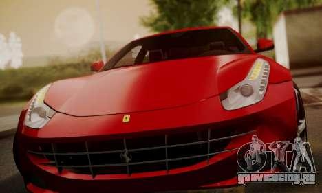 Ferrari FF 2012 для GTA San Andreas вид сбоку