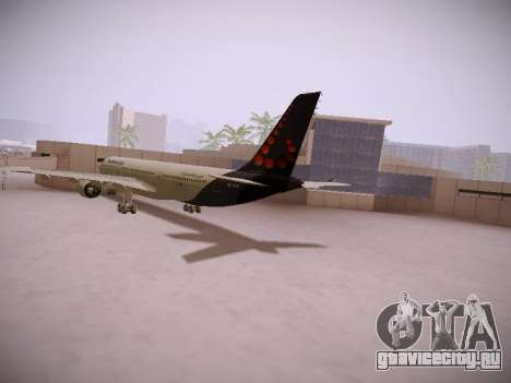 Airbus A330-300 Brussels Airlines для GTA San Andreas вид сзади слева